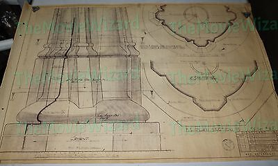 Original Walt Disney Fantasy Land Castle * 1955 Vintage Disneyland Blueprint