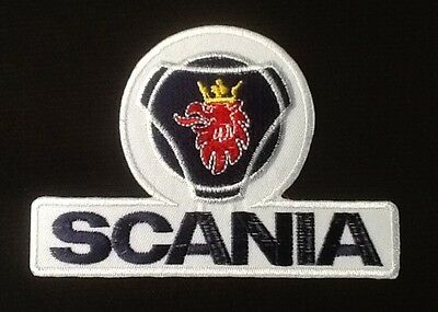 Scania Saab Truck Racing Team  Blue White  Badge Iron Sew On Patch