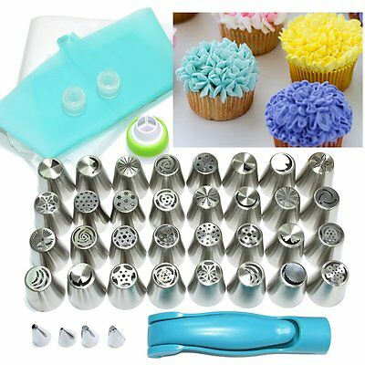 32pc Russian Frosting Tips Set w/ Decorating Pen Pastry Bags for Icing Piping