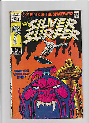 Silver Surfer #6 VG- Silver Age (1969) Comic Book