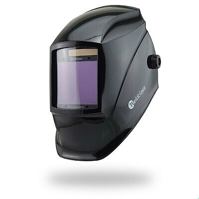 4 SENSOR Weldclass MEGA VIEW Promax 500 Black Stealth Automatic Welding Helmet