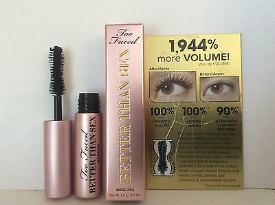TOO FACED Better Than Sex BLACK  MASCARA  4.8g *SPECIAL OFFER*