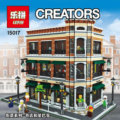 Modular Building STARBUCKS BOOKSTORE Cafe Corner Compatible Lego 10182 - DHL