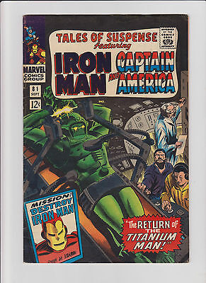 Tales of Suspense #81 FN+ Captain America and Iron Man  (1966) Comic Book