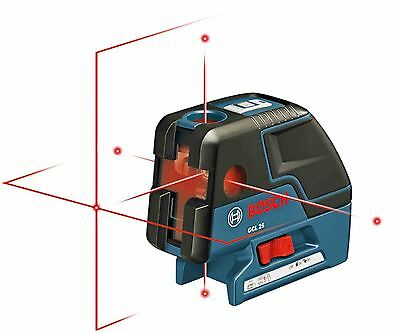 BOSCH GCL25 Five-Point Self Leveling Alignment Laser Cross-Line