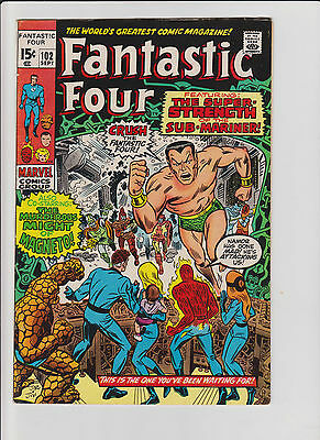 Fantastic Four #102 FN/VF Bronze Age (1970) Comic Book