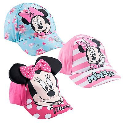 Official Disney Minnie Mouse Summer Cap Adjustable Sun Hat 52 54 cm 3-10 Yrs