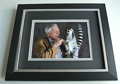 David Attenborough SIGNED 10X8 FRAMED Photo Autograph Display TV The Hunt & COA