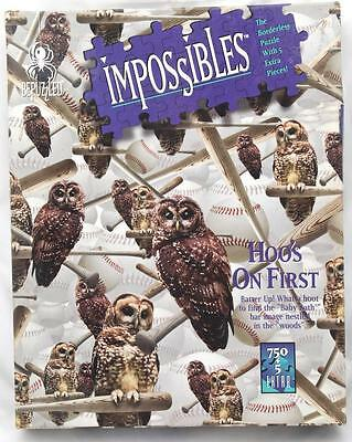 Impossibles Borderless Puzzle 750 PLUS 5 Extra Pieces Hoo's on First Owl Themed