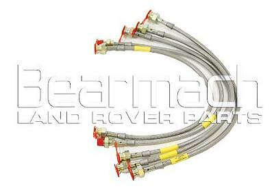 """Discovery 1 (Non-ABS) +2"""" Extended Braided Performance Brake Hoses BA 213L"""