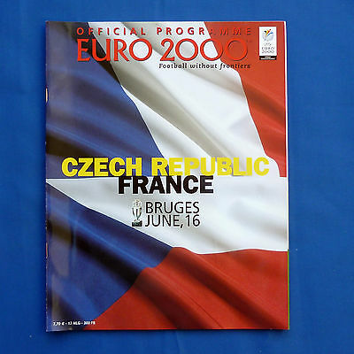 Euro 2000 Programme Czech Republic v France Group D Very Good Condition