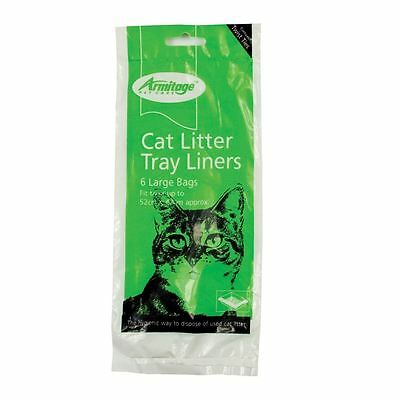 Armitage Pet Care Cat Litter Tray Liners Large Green 52cm x 40cm - 6 Pack