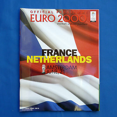 Euro 2000 Programme Netherlands v France Group D Very Good Condition