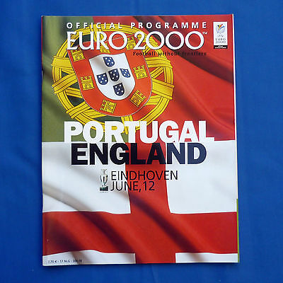 England v Portugal Euro 2000 Programme Group A Very Good Condition