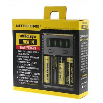 Nitecore New I4 - 2017 Model - Intelligent 18650 Charger with 6 new features