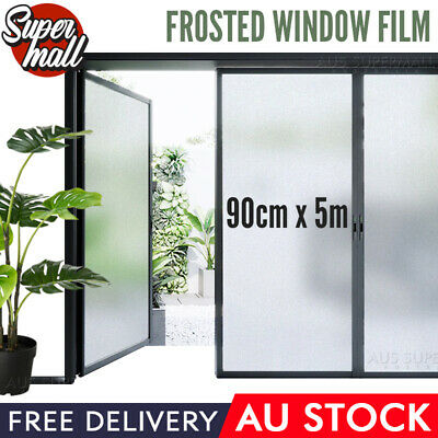 90cm x 3m Home Rice Paper Privacy Frosted Frosting Removable Window Glass Film