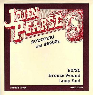 John Pearse IRISH BOUZOUKI CORDES,Faible calibre,loop,Octave & Unison options