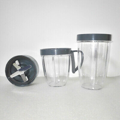 Tall Cup/Lids/Extractor Blade Accessory Kit FOR Nutribullet Blender