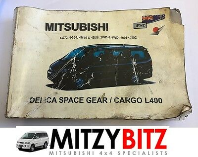 Mitsubishi Delica L400 1995-2002 Owners Manual Handbook ( Front Cover Worn )