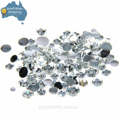 48pc DalCrystals Iron On Hot Fix Large 7mm Crystal Clear FREE GIFT