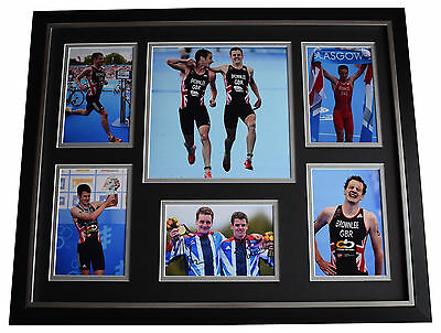 Alistair & Jonathan Brownlee SIGNED Framed Photo Autograph Huge display & COA
