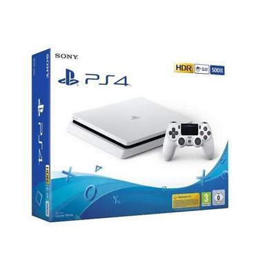 Console Sony Ps4 500Gb Slim Playstation 4 Slim Glacier White Chassis D Italia