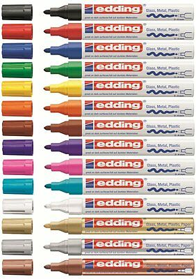 Edding 750 Lackmarker Creative Glanzlackmarker Lackstift Marker 2-4mm! ALLE 14!