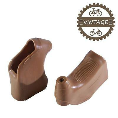 Brake Lever Hoods Bike Fixie Vintage Pair Brown Road Rubber F Campagnolo Shimano