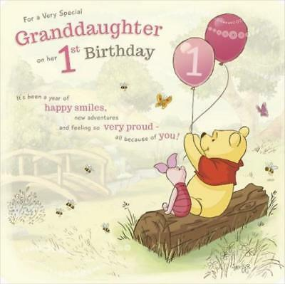Winnie The Pooh For A Very Special Granddaughter On Her 1St Birthday Card Disney