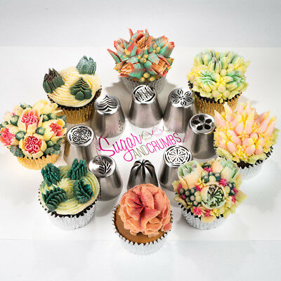 Nifty Nozzles Genuine Russian Flower Cake Decorating Piping Nozzles  - Set of 8