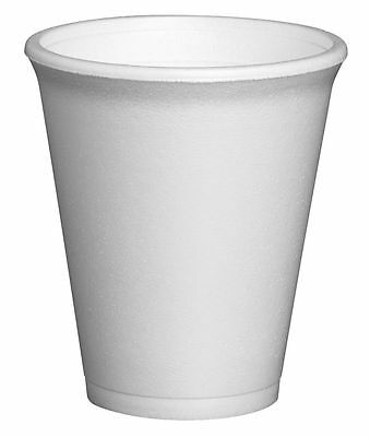 Polystyrene Insulated Foam Cups Disposable Takeaway Coffee Tea Select Size & Qty