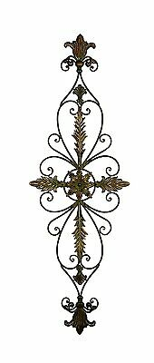 Large Decorative Scrolling Wrought Iron French Vintage Wall Grille Art Panel NEW