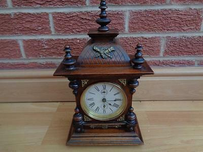 Junghans Gilded / Ormolu Mantel Clock with Alarm