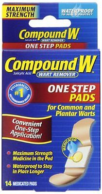 Compound W Maximum Strength One Step Pads Wart Remover 14 Pads