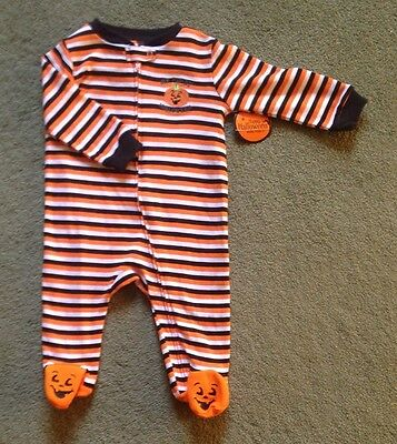MY FIRST HALLOWEEN Infant Boys Girls Size 3-6 Months Bodysuit Outfit NWT New