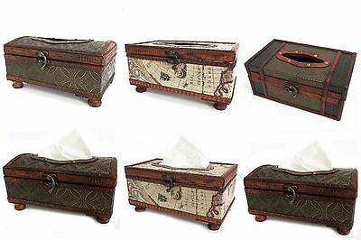 Antique Colonial Style Vintage Retro Tissue Box Covers - Reproduction