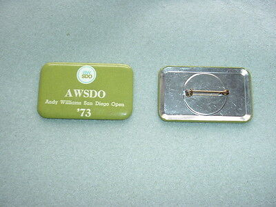 1973 ANDY WILLIAMS SAN DIEGO OPEN  at Torrey Pines, AWSDO Guest Badge