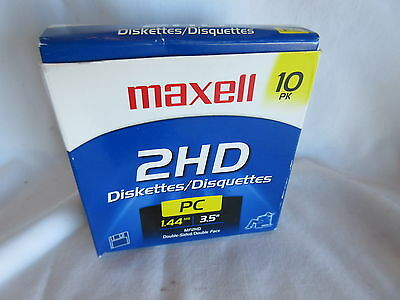 Pack of 7 UNUSED MAXELL 2 HD Diskettes PC 1.22 3.5""