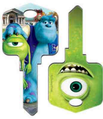 """MONSTERS INC UNIVERSITY """" Mike and Sulley """" House Key Blank Kwikset KW DISNEY"""