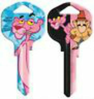 """PINK PANTHER House Key Blank SC1 Schlage REVERSABLE """"Detective"""""""
