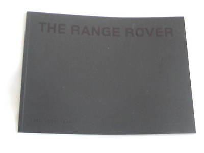 Range Rover  Brochure 2009 / 2010 Model Year Including   Autobiography