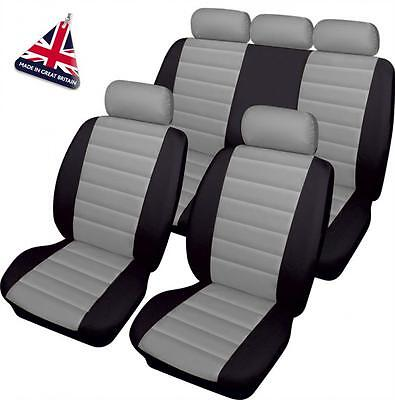 Vauxhall Calibra  - Luxury GREY/BLACK Leather Look Car Seat Covers - Full Set
