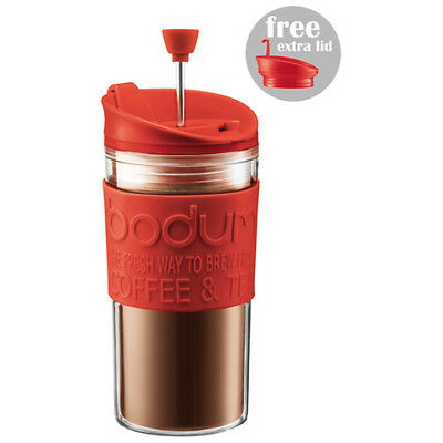 Bodum Travel Press / Mug Set Coffee Maker Red  K11102294 Red