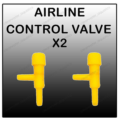 2x Tap Airline Air PUMP Tap Air line CONTROL VALVE Tropical Marine Aquarium TANK
