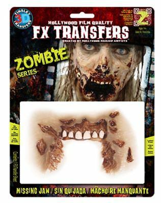 Zombie Missing Jaw - 3D FX  Prosthetic Tinsley Transfers