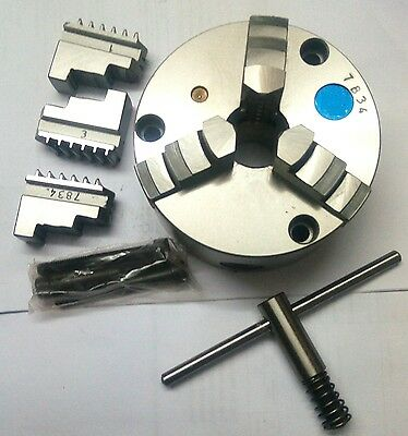 125 mm 3 jaws Self Centering chuck with reversible set of jaw+ self ejecting key