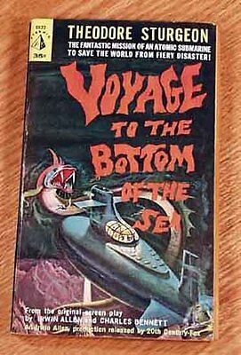 Voyage To The Bottom Of The Sea, 1961, Theodore Sturgeon, First Print, Film Tie