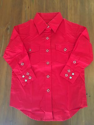 Ladies Long Sleeved Western Style Shirt Size 18