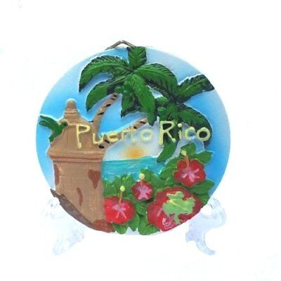 Puerto Rico Home & Office Decorative Plate Souvenir Boricua Rican #4 INSTRUMENT