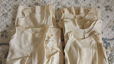 Lot of 5 Antique Flannel Baby Gowns and Robes
